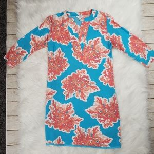 Crown and Ivy Coral and Blue Dress Size 2P